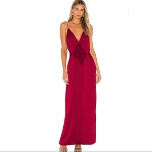 L'Academie The Joelle Maxi Dress Rumba Red Small